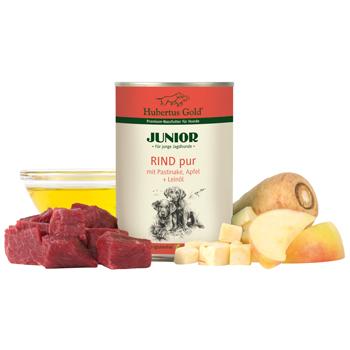Junior Rind pur mit Pastinaken und Apfel + Leinöl 400g